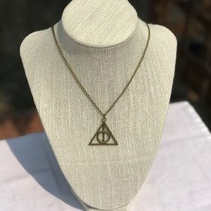 Jewelry - Harry Potter Bronze Deathly Hallows Necklace
